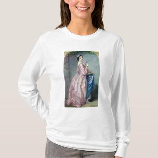 Dame, die Blumen in ihrem Petticoat hält T-Shirt