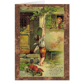 Dame Fair Valentine Karte