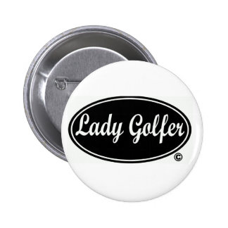 Dame Golfer Round Button