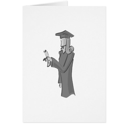 Dame Graduating Grußkarte