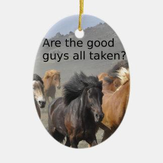 Dame Horse Gossip: Sind die guten ganz genommenen Keramik Ornament