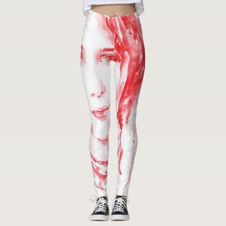 Dame im Rot Leggings