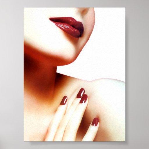 Dame In Red Plakatdrucke