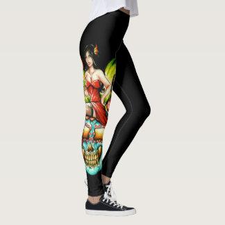 Dame in Red_red_Leggings Leggings