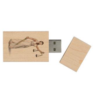 Dame Justice Holz USB Stick