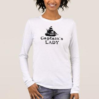 Dame Kapitäns Langarm T-Shirt