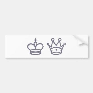 Dame König queen king Schach chess Autoaufkleber