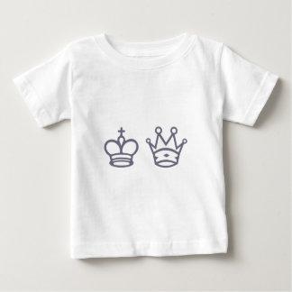 Dame König queen king Schach chess Baby T-shirt