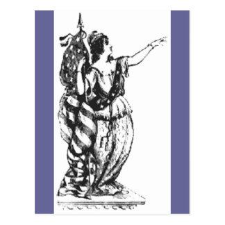 Dame Liberty (Art 2) Postkarte