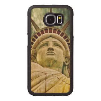 Dame Liberty, Freiheitsstatue Handyhülle Aus Holz