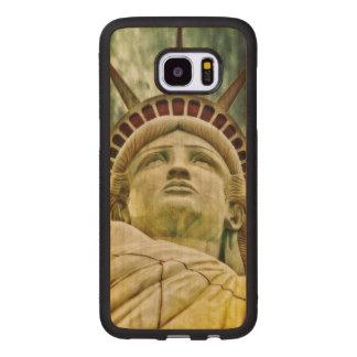 Dame Liberty, Freiheitsstatue Samsung Galaxy S7 Edge Holzhülle