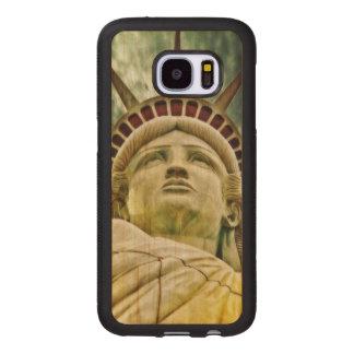 Dame Liberty, Freiheitsstatue Samsung Galaxy S7 Holzhülle