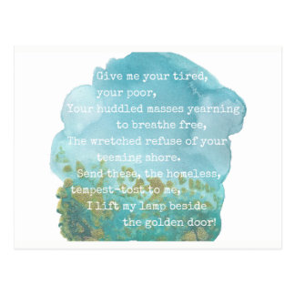 Dame Liberty Poem Postcard Postkarte
