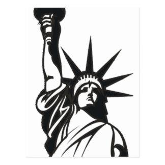 Dame Liberty Postkarte