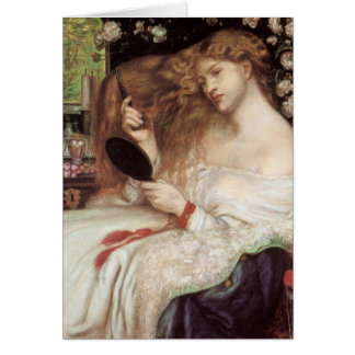 Dame Lilith durch Rossetti, Vintages Karte