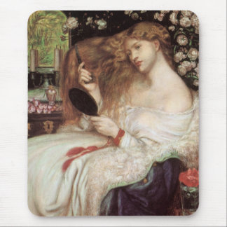 Dame Lilith durch Rossetti, Vintages Mousepad