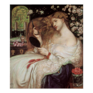 Dame Lilith durch Rossetti, Vintages Poster