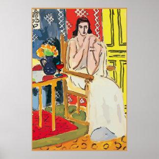 Dame Matisse mit Weinbrand-Glas Poster