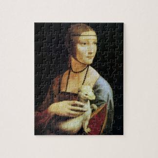 Dame mit einem Ermine durch Leonardo da Vinci Puzzle