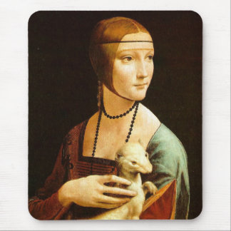 Dame mit einem Ermine, Leonardo da Vinci Mauspads