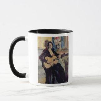 Dame mit einer Gitarre, 1911 Tasse