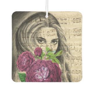 Dame mit Rosen Lufterfrischer