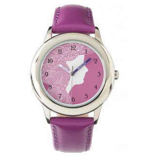 Dame Pink - nummeriert Uhr
