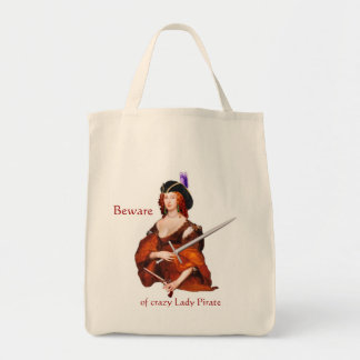 Dame Pirate Grocery Tote Tragetasche