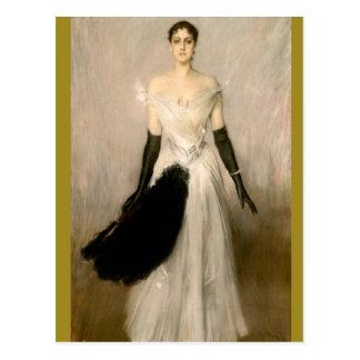 Dame Portrait - Boldini Postkarte