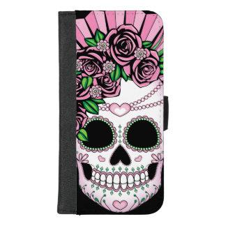 Dame Sugar Skull iPhone 8/7 Plus Geldbeutel-Hülle