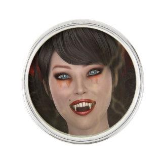 Dame Vamp Anstecknadel