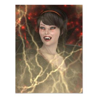 Dame Vamp Magnetische Karte
