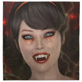 Dame Vamp Stoffserviette