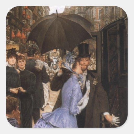 Dame Victorian Traveler Stickers