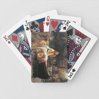 Dame von Shalott Spielkarten