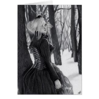 Dame Winter der gotischen Steampunk Karte