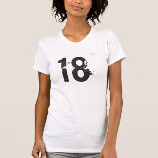 Damen-#18 beunruhigtes Grungy zerstörtes T-Stück T-Shirt