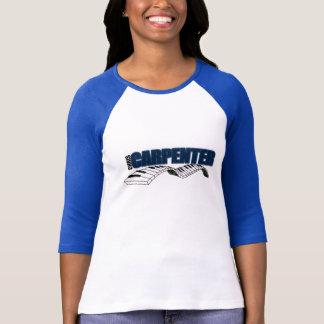 Damen 3/4 HülseRaglan (angepasstes) White/Dk. Blau T-Shirt