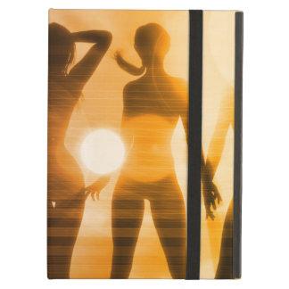 Damen am Strand mit Silhouette