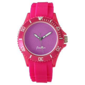 Damen-Armbanduhr-Pink besonders angefertigt Uhr