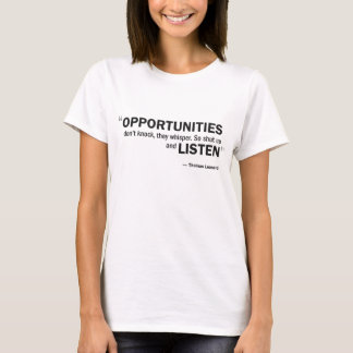 Damen-Baby - Puppe T - 'Gelegenheiten klopfen T-Shirt