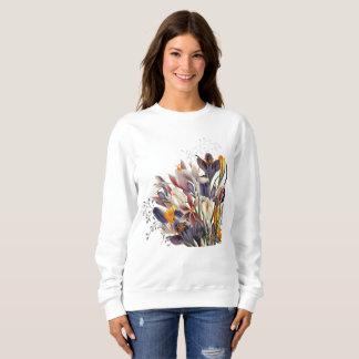 Damen-Blumenschweiss-Shirt Sweatshirt