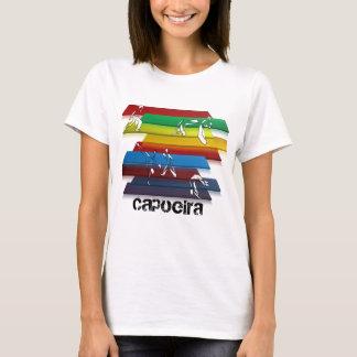 Damen capoeira Kampfkunstregenbogen T-Shirt
