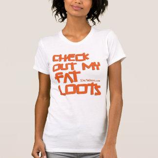 Damen-Fett plündert T - Shirt