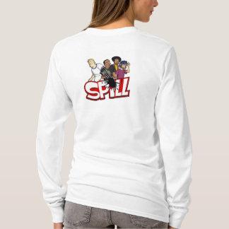 Damen-Fleck-CrewHoodie (hinter) T-Shirt