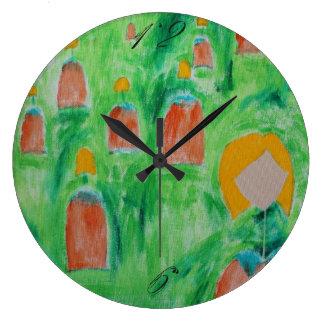 Damen-gehende Kreis-Uhr 2 Große Wanduhr