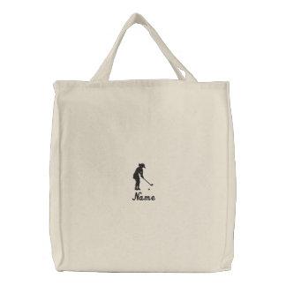 Damen-Golf-Taschen-Tasche gestickt Bestickte Tragetasche