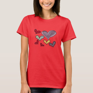 Damen-Herz-T - Shirt
