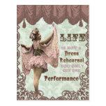 Damen-Karnevalspostkarte des Vintagen Fotos franzö Postkarten