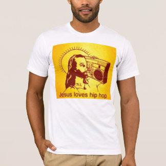 Damen-lange Hülsen-Jesus-Lieben Hiphop T-Shirt
